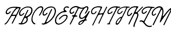 ThreesixtySlant Font UPPERCASE
