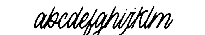 ThreesixtySlant Font LOWERCASE
