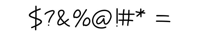 Tinyscript Font OTHER CHARS