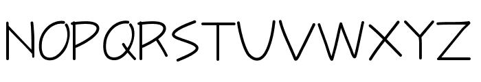 Tinyscript Font UPPERCASE