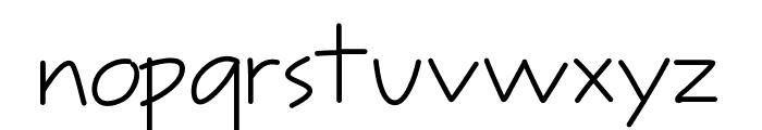 Tinyscript Font LOWERCASE