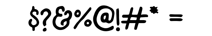 Tomahawk Font OTHER CHARS
