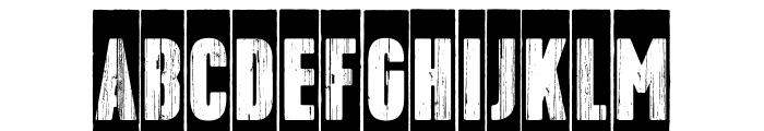 Toppo-Negative Font UPPERCASE