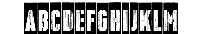 Toppo-Negative Font LOWERCASE