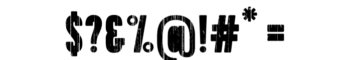 Toppo-Stencil Font OTHER CHARS