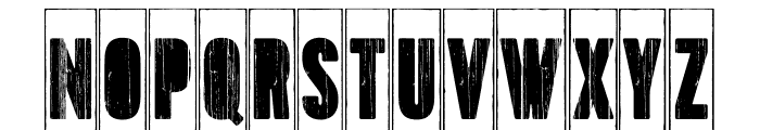 Toppo-StencilFrame Font UPPERCASE