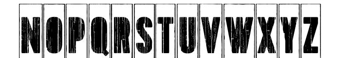 Toppo-StencilFrame Font LOWERCASE