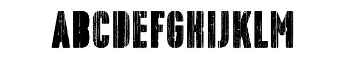 Toppo-Stencil Font LOWERCASE