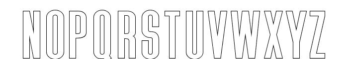 Triester Sans Outline Font LOWERCASE