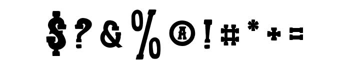 TrioAprilianaBold Font OTHER CHARS