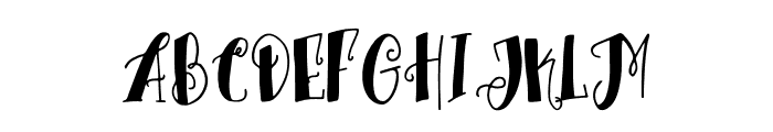 TrioAprilianascript Font UPPERCASE