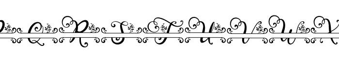 Tropical Monogram reguler Font UPPERCASE