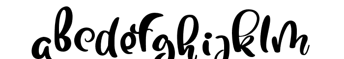 Tropical-Regular Font LOWERCASE