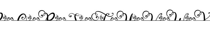 Tropical Split Monogram reguler Font UPPERCASE