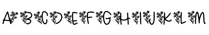 Tropical Font UPPERCASE