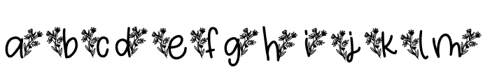 Tropical Font LOWERCASE