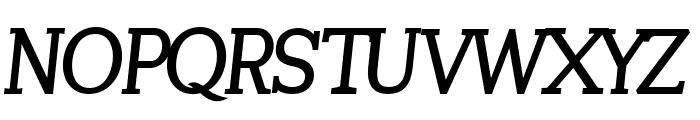 Tugano Bold Italic Font UPPERCASE