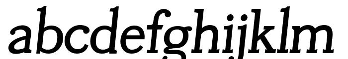 Tugano Bold Italic Font LOWERCASE