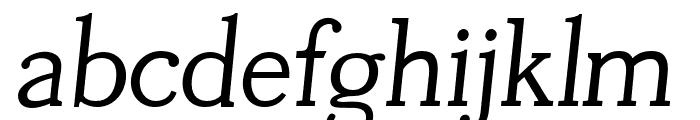 Tugano Italic Font LOWERCASE