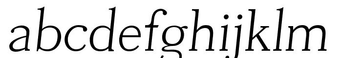 Tugano Light Italic Font LOWERCASE