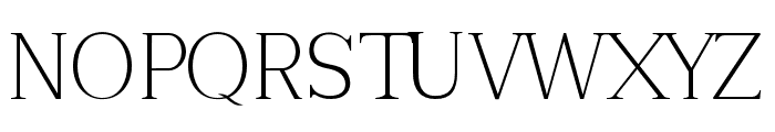 Tugano Light Ultra Font UPPERCASE