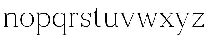 Tugano Light Ultra Font LOWERCASE