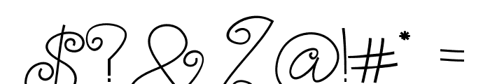 TurningAndCurling Font OTHER CHARS