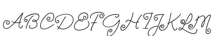 TurningAndCurling Font UPPERCASE