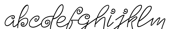 TurningAndCurling Font LOWERCASE