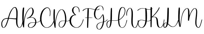 Twirly Ballerina Font UPPERCASE