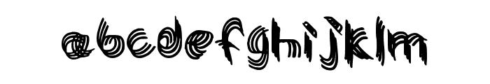 Twisty Girlz Regular Font LOWERCASE