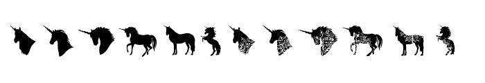 Unicorn Smiles Extras Regular Font LOWERCASE