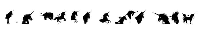 Unicorn Smiles Two Regular Font UPPERCASE