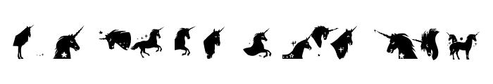 Unicorn Smiles Two Regular Font LOWERCASE