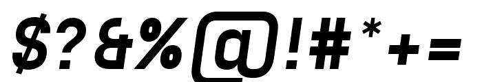 Unione Black Oblique Font OTHER CHARS
