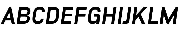Unione Black Oblique Font UPPERCASE