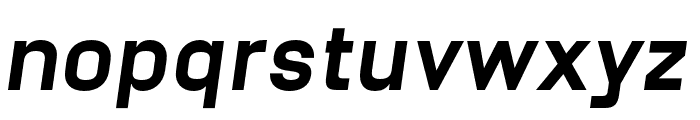 Unione Black Oblique Font LOWERCASE