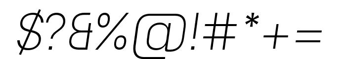 Unione Light Oblique Font OTHER CHARS