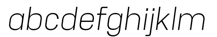 Unione Light Oblique Font LOWERCASE