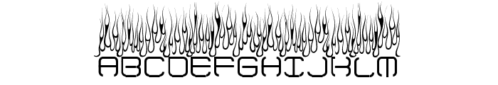 Up In Flames Font LOWERCASE