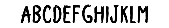 Upright Brush Font UPPERCASE