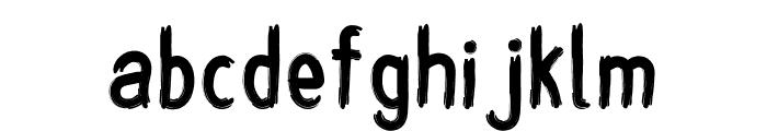 Upright Brush Font LOWERCASE