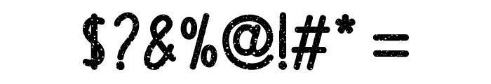 Upright Grunge Regular Font OTHER CHARS
