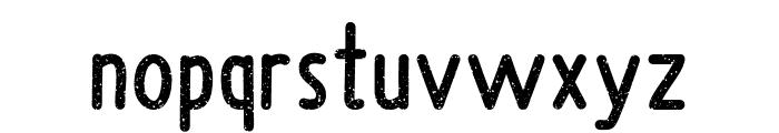 Upright Grunge Font LOWERCASE