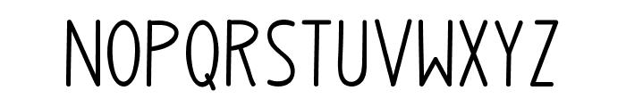 Upright Font UPPERCASE