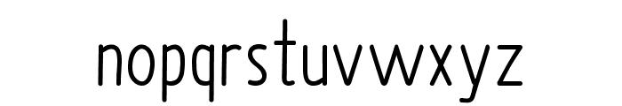Upright Font LOWERCASE