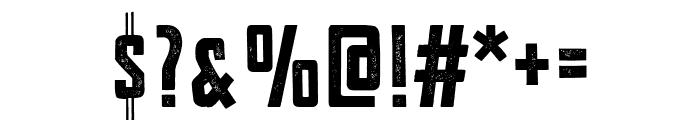 VFC Fantomen Press Font OTHER CHARS
