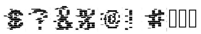 VHS Glitch 1 - Bits Font OTHER CHARS