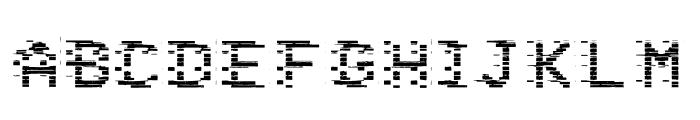 VHS Glitch 1 - Bits Font UPPERCASE