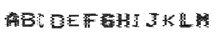VHS Glitch 1 - Bits Font LOWERCASE